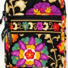 Vera Bradley Mini Hipster crossbody organizer wallet Suzani • swing bag  NWT Retired