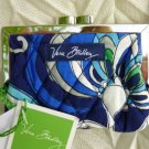 Vera Bradley Kisslock coin purse Mediterranean Blue  NWT Retired  coin card