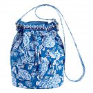 Vera Bradley Quick Draw cargo sling Blue Lagoon • bag gym beach tote NWT  carryon