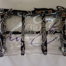 Vera Bradley Transparent Travel Pouch makeup cosmetic bag Caffe Latte  NWT Retired  TSA 3-1-1 FS