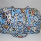 Vera Bradley Baby Bag diaper beach weekend overnight tote Bali Blue NWOT Retired