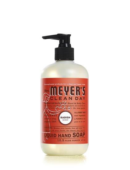 Mrs Meyers Clean Day Liquid Hand Soap Radish TWO 12.5 oz pump bottles FS