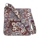 Vera Bradley Hipster crossbody shoulder bag Slate Blooms   NWT  Retired tablet e-reader