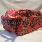 Vera Bradley Trip Kit travel cosmetic case Call Me Coral  NWT Retired toiletry makeup case