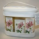 Crabtree & Evelyn Passion Flower Gift Bag - Bath Gel Lotion Soap  Glove Carry Case NWT Disc'd HTF