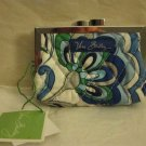 Vera Bradley Kisslock coin purse Mediterranean White  NWT