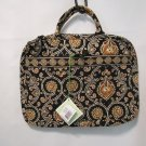 Vera Bradley Laptop Case  Caffe Latte  portfolio soft metro commuter bag   Rare Retired NWT