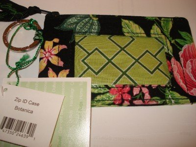 Vera Bradley Zip ID Case Botanica  coin purse credit card  NWT retired