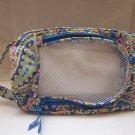 Vera Bradley Shoe Bag in Capri Blue  travel packing case  Retired NWOT