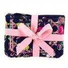 Vera Bradley Cosmetic Trio Ribbons travel cosmetic set tech case NWT