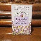 Crabtree & Evelyn Glycerine Soap original Lavender • Single 3.5 oz. Boxed Bar • Disc'd