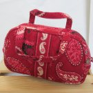 Vera Bradley Katie small cosmetic girls purse tech Mesa Red - Mint Retired FS