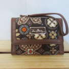 Vera Bradley Anniversary Wristlet Canyon ID coin zip-around wallet iPhone tech case Retired NWT