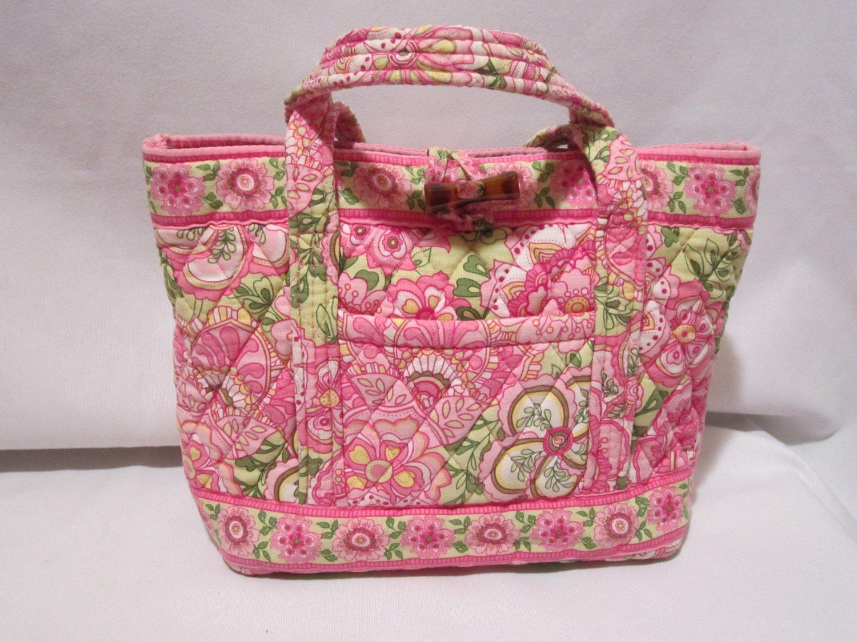 Vera Bradley Little Toggle Tote in Petal Pink Retired � purse handbag