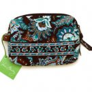 Vera Bradley Small Cosmetic case Java Blue makeup bag Retired NWT