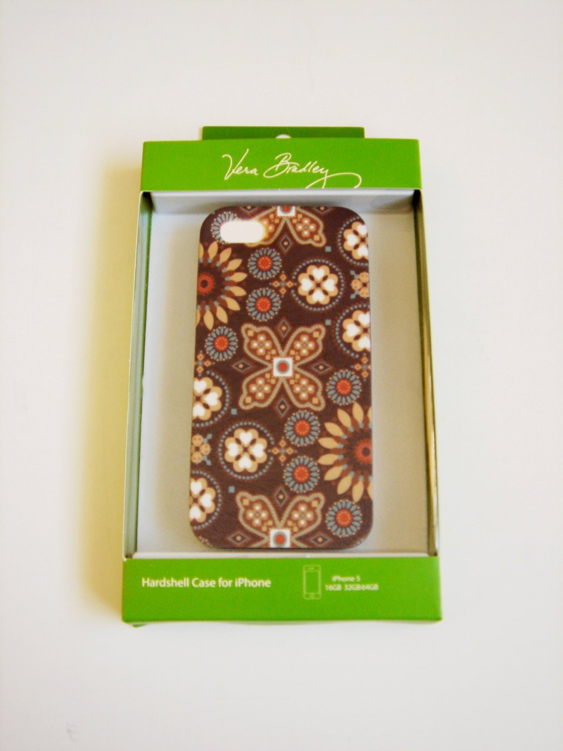 Vera Bradley iPhone 4/4S hardshell case FS Canyon brown smartphone cover NIB Retired