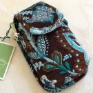 Vera Bradley Cell Phone Case Java Blue  tech ID card makeup holder NWT Rare Retired