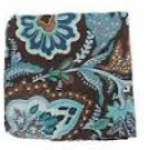 Baekgaard Pocket Square in Java Blue 100% Silk  Vera Bradley purse tie, formal wear Retired NIB