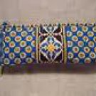 Vera Bradley Small Bow Cosmetic brush & pencil case Riviera Blue • NWT Retired travel makeup