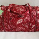 Vera Bradley Large Duffel  Mesa Red  NWT Retired  travel carryon weekend overnight