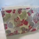 Crabtree Evelyn Travel Cosmetic waxed canvas bag  Arum Han Collection  limited ed., gift