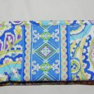 Vera Bradley Small Bow Cosmetic case Capri Blue  make-up organizer tech case • NWT Retired