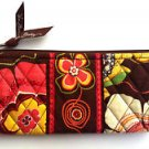 Vera Bradley Brush and Pencil case Buttercup  NWT Retired  travel cosmetic bag