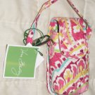 Vera Bradley Cell Phone Case Capri Melon tech key ID card makeup holder   NWT VHTF Retired