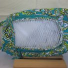 Vera Bradley Shoe Bag travel packing case Peacock NWOT retired