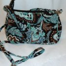 Vera Bradley Amy  small crossbody convertible hipster Java Blue EUC  Retired