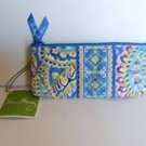 Vera Bradley Brush and Pencil cosmetic case in Capri Blue  NWT Retired
