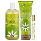 Pacifica Tahitian Gardenia TRIO Body Wash 17 oz. Body Butter 8 oz.  Perfume UNboxed