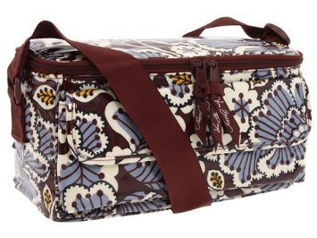Vera Bradley Cooler Slate Blooms  insulated lunch case travel cosmetic bottle bag NWOT Retired