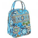 Vera Bradley Lets Do Lunch Bali Blue insulated camera travel cosmetic bottle bag  NWT Retired