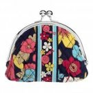 Vera Bradley Double Kiss Coin purse Happy Snails  kisslock coin purse small clutch NWT Retired