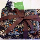 Vera Bradley Cosmetic Trio Canyon travel organizers makeup tech case set  Retired NWT