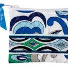 Vera Bradley Coin Purse Mediterranean White • NWT Retired small tech pda zip wallet card case