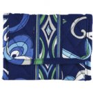 Vera Bradley Pocket Wallet Mediterranean Blue coin purse ID foldover credit card case  Retired NWT