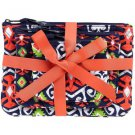 Vera Bradley Cosmetic Trio Sun Valley travel cosmetic tech case smartphone small tablet NWT Retired