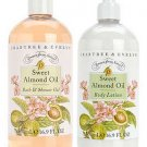 Crabtree Evelyn Almond Oil 16.9 oz Shower Gel Lotion Set  500 ml Value Size