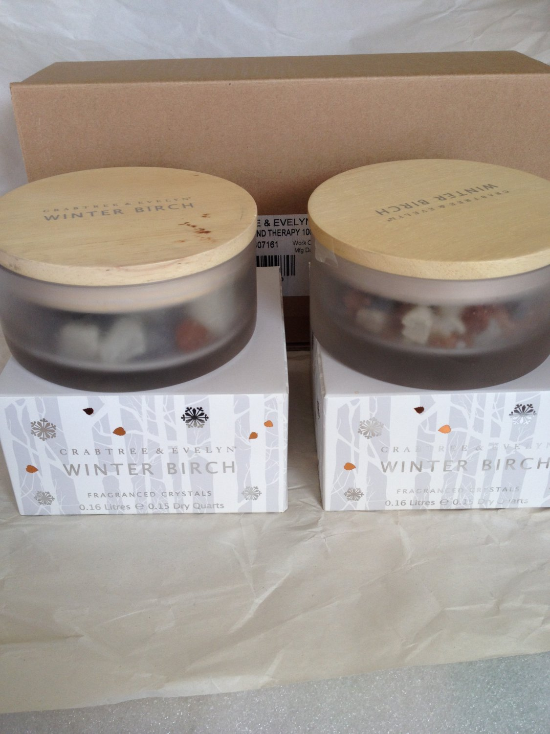 Crabtree Evelyn Winter Birch Scented Crystal Potpourri X2. FS Home Fragrance rocks Disc'd