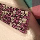Vera Bradley Gem Pencils PLUM PETALS  gift writing desk office 6 NIP