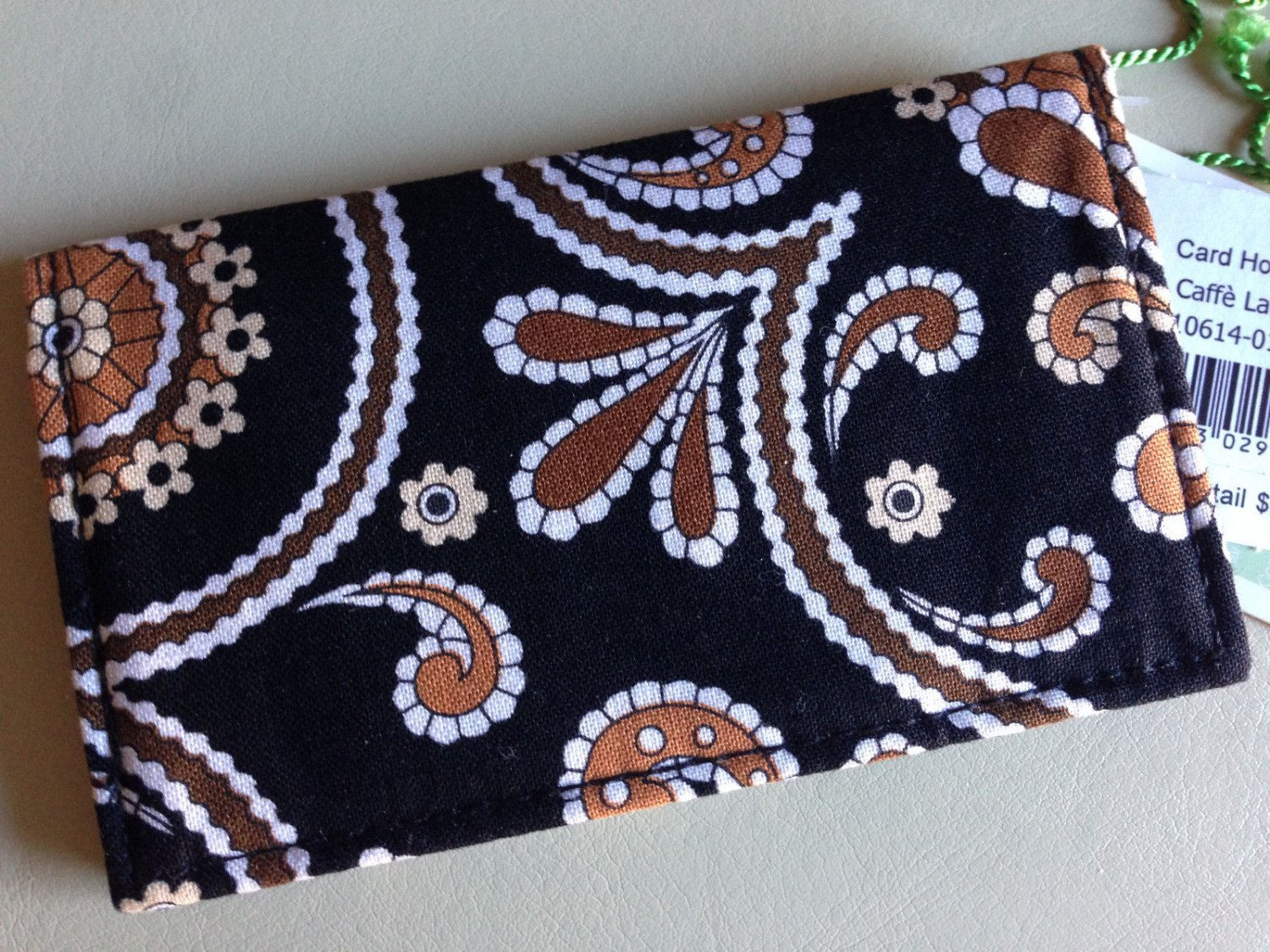 Vera Bradley Card holder Caffe Latte  business ID credit card case  Retired NWT