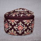 Vera Bradley Jewelry Travel Case Medallion  retired VHTF Mint - travel makeup