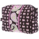 Vera Bradley Large Cosmetic Pink Elephants NWT Retired travel cosmetic tote tech case