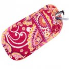 Vera Bradley Double Eye Rasberry Fizz  soft eyeglass case  Retired NWT  VHTF tech case