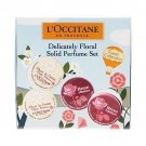 L occitane Delicately Floral Solid Perfume Set /4 Cherry Blossom and Rose Eau des 4 Reines  l travel
