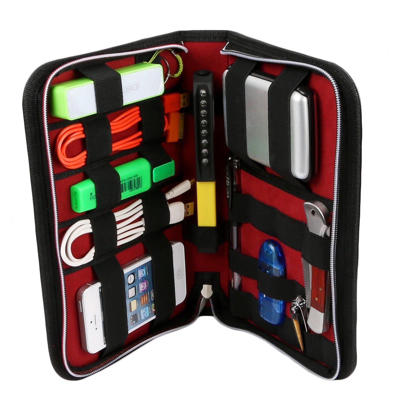 Kocaso Travel Tech Zip-around Case  PU leather waterproof heavy duty elastic band
