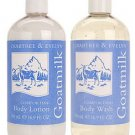 Crabtree Evelyn Goatmilk 16.9 oz Body Wash + Lotion goat milk Disc'd original version