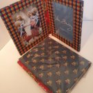 Vera Bradley Double Photo Picture Frame X2 in Emily freestanding  Retired album